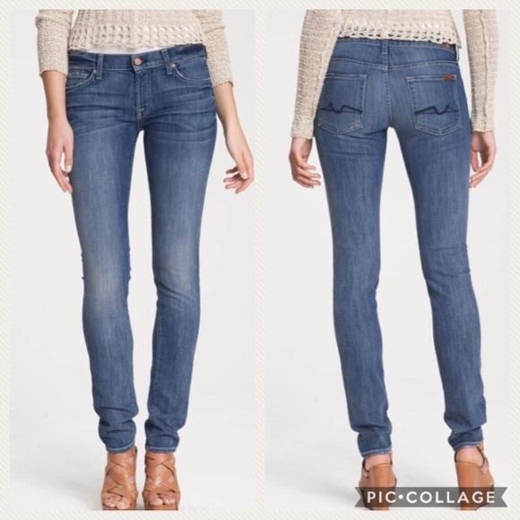 7 For All Mankind Denim - 7 for all mankind bling Roxane skinny denim jeans